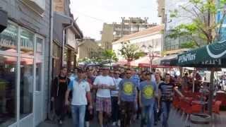 fk novi pazar fk partizan 28 04 2013 korteo navijanje zapad i istok