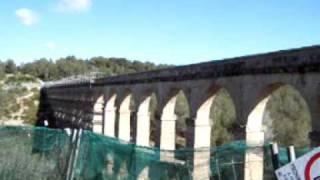 Acueducto romano de Tarragona. Roman aqueduct in Tarragona.