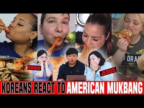 Koreans In Their 30s React To American Mukbang