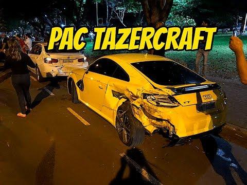 CARRO DE YOUTUBER SOFRE ACIDENTE - PAC TAZERCRAFT