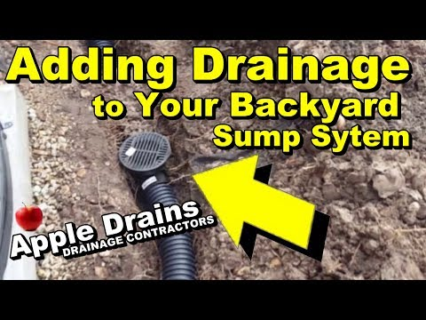 Add More Drains To Your Backyard Sump
