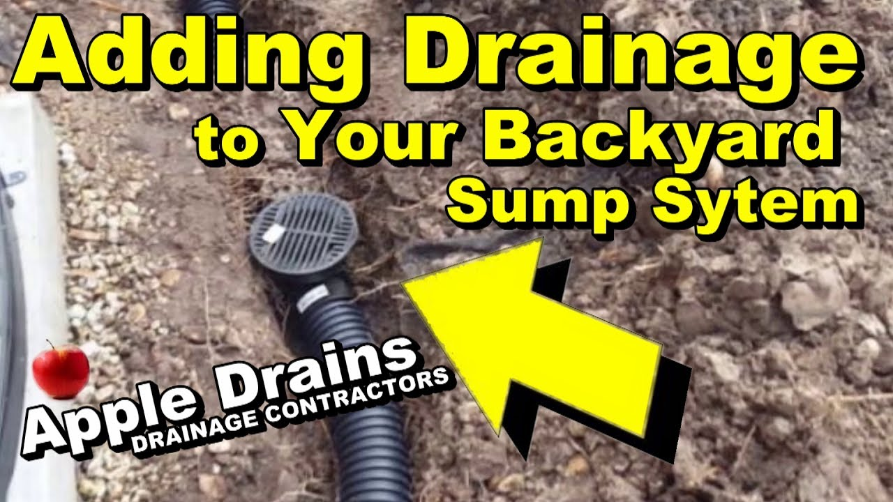 add more drains to your backyard sump youtube