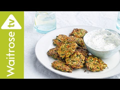 Spiced Courgette And Carrot Fritters | Waitrose