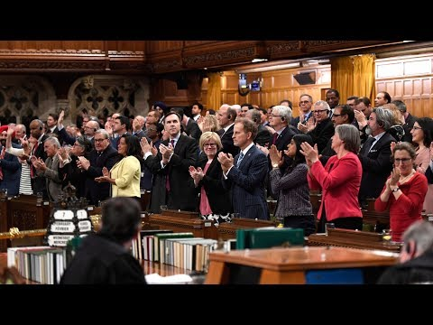 Gender-neutral national anthem sung in Canadian Parliament