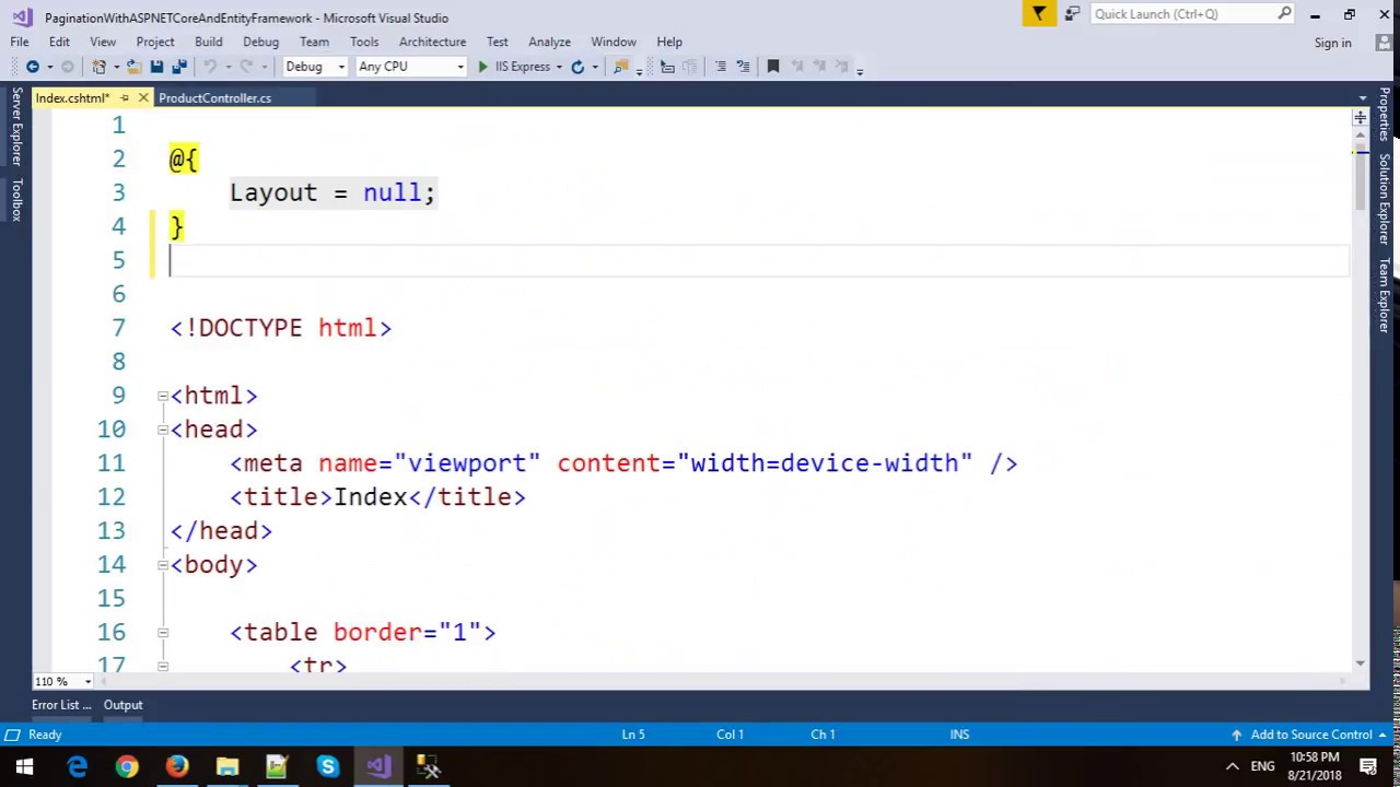 Pagination with ASP NET Core MVC and Entity Framework