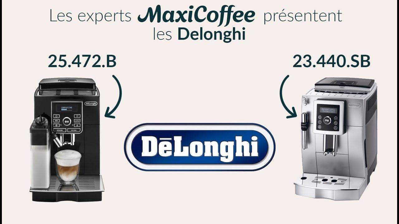 Expresso Broyeur Delonghi Ecam 23.440 Sb delonghi 23.440.sb et delonghi 25.472.b | machine à café automatique | le  test maxicoffee