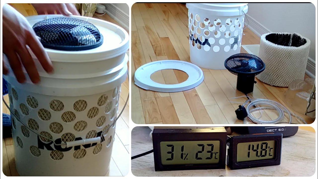 Solar Power Cooler Diy Swamp Cooler Aka Evaporative Cooler Youtube