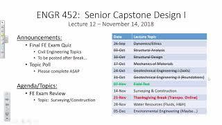 FE Exam Review: Surveying/Construction (2018.11.14)