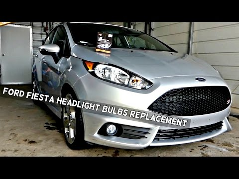 How To Replace Headlight Bulb Or Turn Signal On Ford Fiesta 2011 2012 2013 2014 2015 2016 Youtube