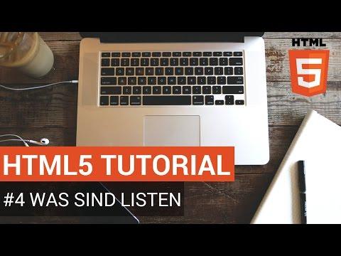 HTML Tutorial Deutsch - #4 Listen Erstellen
