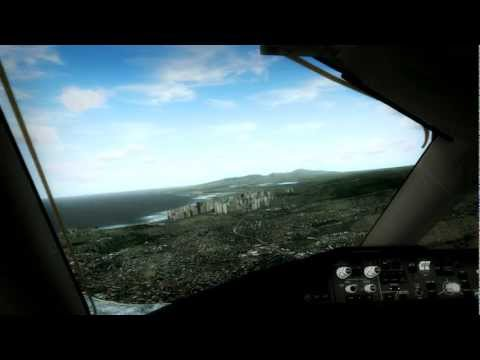 FSX United Airlines 787 Landing Honolulu, Hawaii FULL GRAPHICS [HD 1080p]