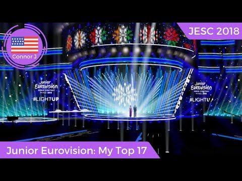 Junior Eurovision 2018: My Top 17 (New: Portugal, Azerbaijan, and France) #JESC2018