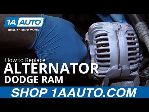 How to Replace Alternator 02-08 Dodge Ram