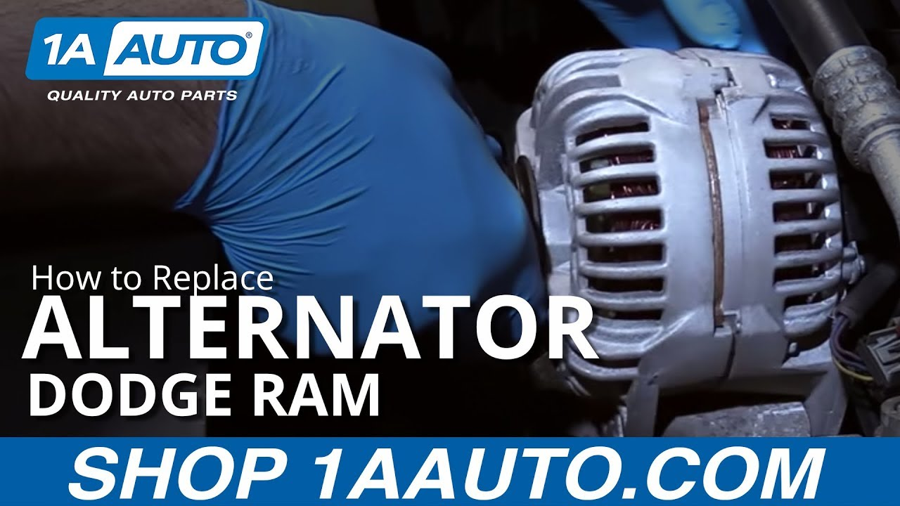 Replace Alternator 02-08 Dodge Ram - YouTube