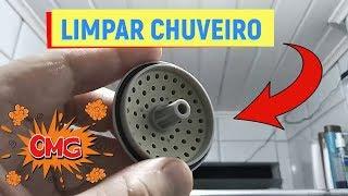 COMO LIMPAR O CHUVEIRO