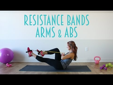 Resistance Band Arms & Abs Workout