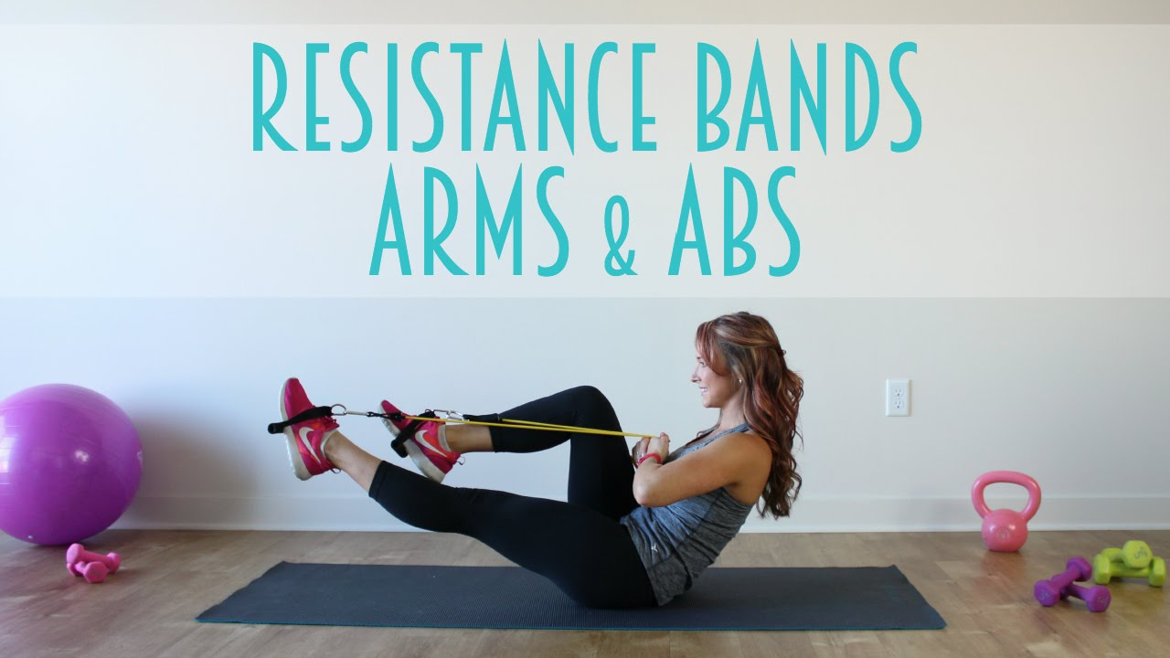 Resistance Band Arms   Abs Workout - YouTube 02b756278b