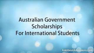 Australian Scholarships for International Students.