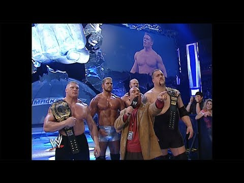 John Cena is offered a spot on Team Lesnar: Smackdown, November 6, 2003