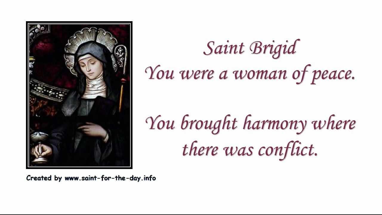 Prayer saint brigid Bridget of
