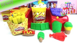 Popcorn selber machen aus knete - Play Doh Poppin' Movie Snacks Popcorn Maschine Demo
