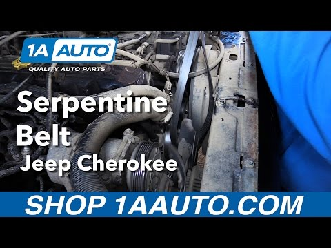 How to Replace Serpentine Belt 96-99 Jeep Cherokee
