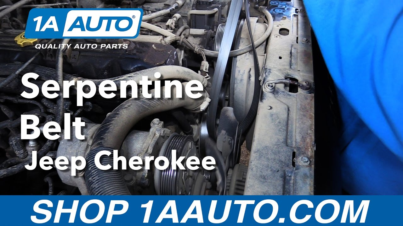 How To Replace Install Serpentine Belt 199699 Jeep Cherokee Buy. How To Replace Install Serpentine Belt 199699 Jeep Cherokee Buy Quality Auto Parts From 1aauto Youtube. Jeep. 1996 Jeep Cherokee Belt Diagram At Scoala.co