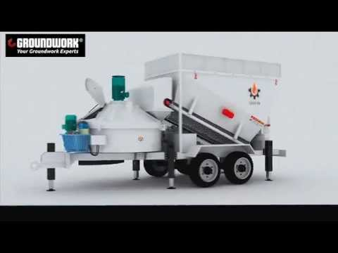 The Highly Efficient Mobile Concrete Batching Plant