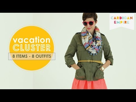 8 Outfits from 1 Carryon Suitcase: Vacation Capsule- Travel Cute & Light