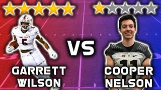 5 Star Recruit vs 1 Star Recruit *WIDE RECEIVER EDITION*