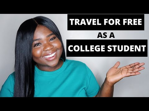 HOW TO TRAVEL FOR FREE AS A COLLEGE STUDENT!!!! ( Even If You're In DEBT)