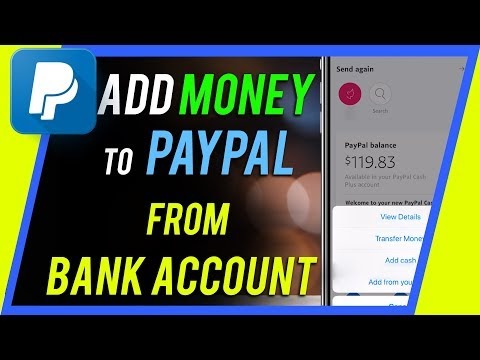 How to Add Money to PayPal from Bank Account - YouTube