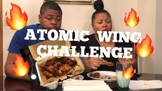ATOMIC WING CHALLENGE🔥 (WINGSTOP) *EXTREMELY HOT*