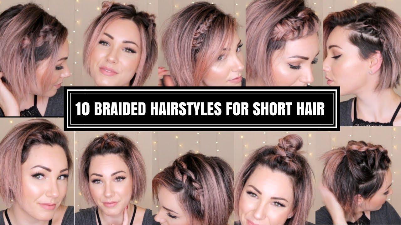 10 braided hairstyles for short hair | chloe brown