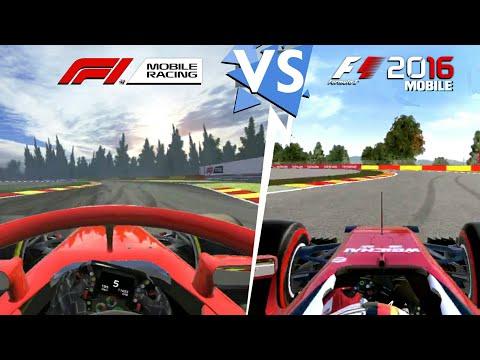 F1 Mobile Racing Vs F1 2016 Móvil || Comparación Gráfica - En 4 Circuitos || Android & IOS