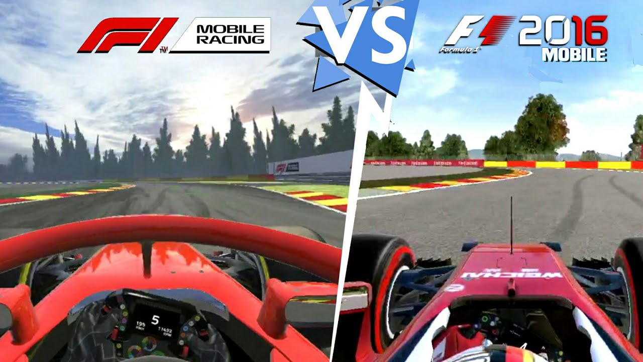 f1 mobile racing vs f1 2016 m vil comparaci n gr fica. Black Bedroom Furniture Sets. Home Design Ideas