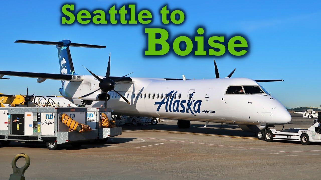 Full Flight: Alaska Horizon Dash 8 Q400 Seattle to Boise (SEA-BOI)