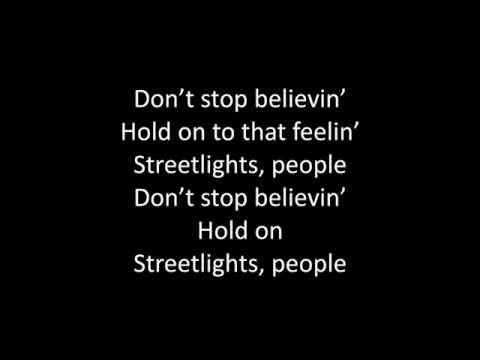 Timeflies - Don't Stop Believin' Lyrics