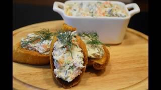 Закуска из семги и сливочного сыра за 10 минут/Salmond&cream cheese snack