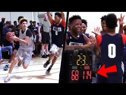 Big Ballers BLOWN OUT?! LaMelo Ball VS SNIPER Freshman PG! Game Gets UGLY! Big Ballers v Team Eleate