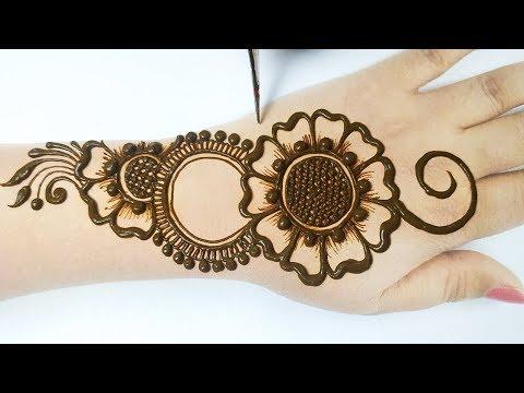 New Arabic Mehndi Design for Hands -आसान शेडेड मेहँदी डिज़ाइन- How to apply Easy Mehndi on hands