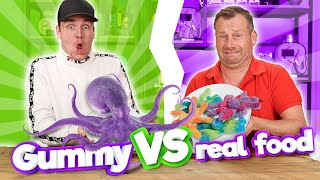 GUMMY FOOD VS REAL FOOD! 3.0