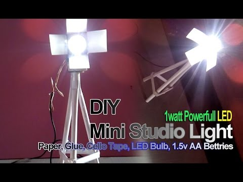 How To Make A Mini Paper Studio Light DIY Easy
