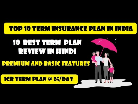TOP 10 TERM LIFE INSURANCE PLAN REVIEW IN HINDI  || PREMIUM AND BASIC FEATURES