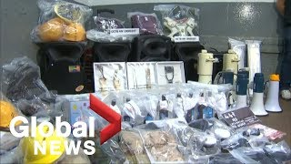 Hong Kong police find large amount of explosives during warehouse raid