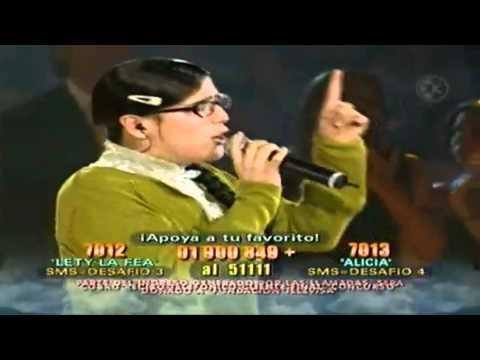 """Angélica V. """"Lety La Fea"""" feat R. Montaner - Tan Enamorados (en vivo - Cantando por un sueño 2006)"""