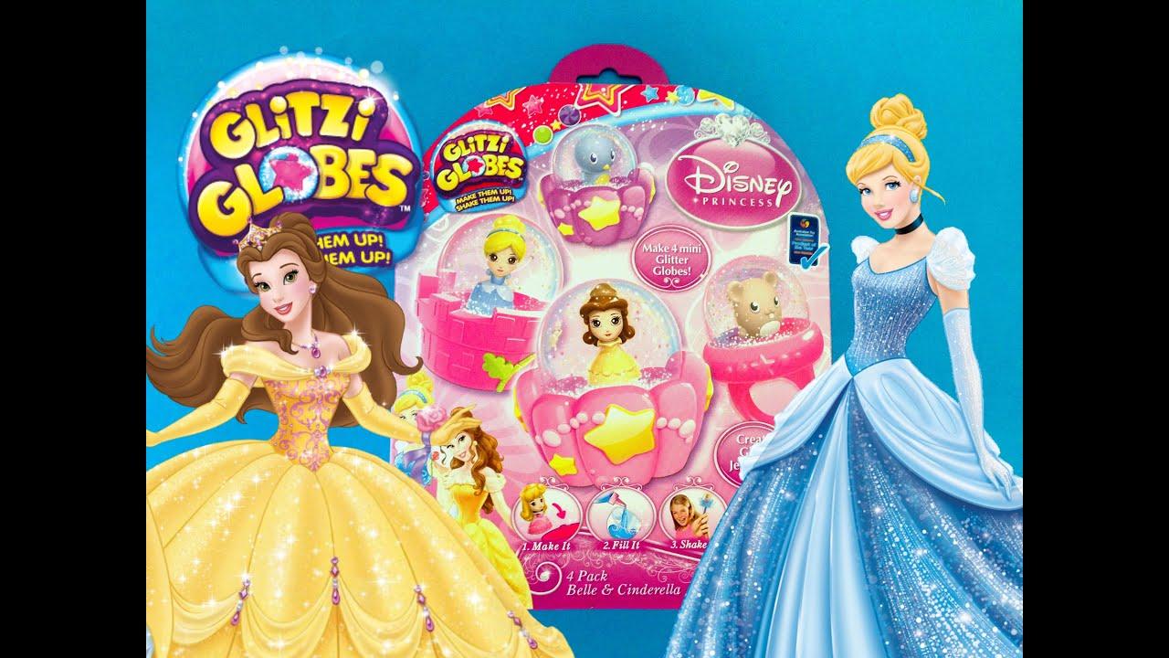 Glitzi Globes Disney Princess Belle and Cinderella Playset How to ...