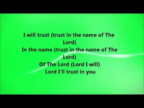 Fred Hammond - I Will Trust (Lyrics)