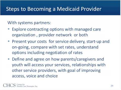 Becoming a Medicaid Provider Consideration for Family Run Organizations