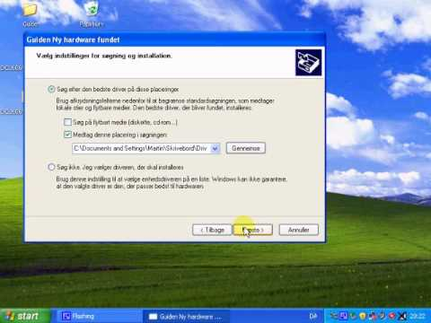 Installering Sony Ericsson drivers in Windows XP